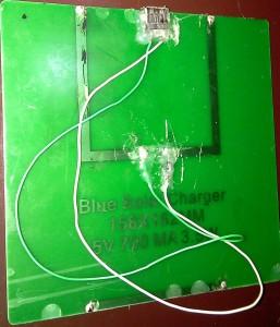 retro pannello solare con diodo e porta usb